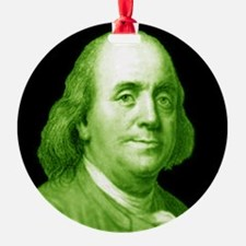 Ben Franklin Ornament (Round)