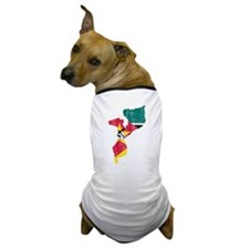 Mozambique Flag And Map Dog T-Shirt