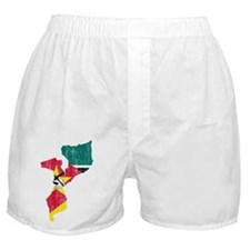 Mozambique Flag And Map Boxer Shorts