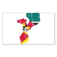 Mozambique Flag And Map Decal
