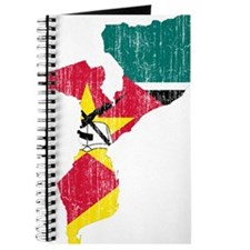 Mozambique Flag And Map Journal