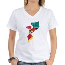 Mozambique Flag And Map Shirt