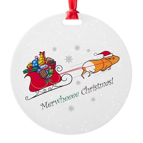 Merwheeee Christmas! Ornament (Round)