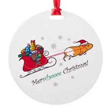 Merwheeee Christmas! Ornament (Round)