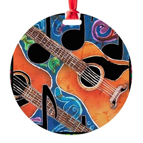 Guitar<br> Ornament (Round)