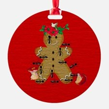 Gingerbread and Ants Ugly Ornament (Round)
