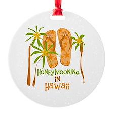 Honeymoon Hawaii Ornament (Round)