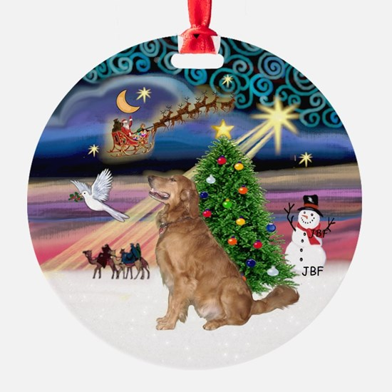 Xmas Magic & Golden Ornament (Round)