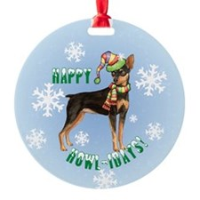 Holiday Min Pin Ornament (Round)