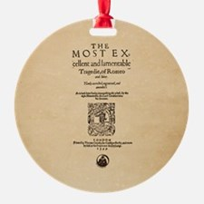 Romeo & Juliet Quarto (1599) Ornament (Round)