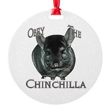 Chinchilla Obey Ornament (Round)