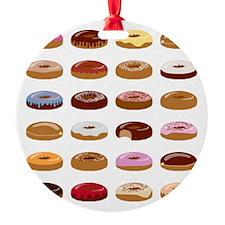 Donut Lot Ornament (Round)