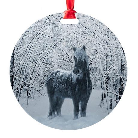 Winter horse. Christmas Tree Horse Ornament