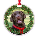 Chocolate labs Ornaments