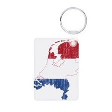 Netherlands Flag And Map Keychains
