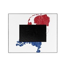 Netherlands Flag And Map Picture Frame