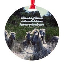 Horses w/ Proverb Ornament (Round)