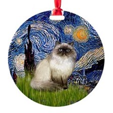 Starry Night Himilayan Ornament (Round)