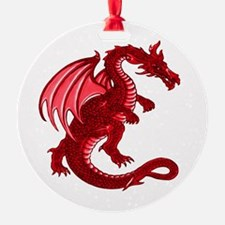 Red Dragon Ornament (Round)