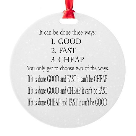 Three Ways Ornament (Round)