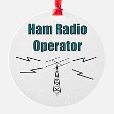 Ham Radio Operator Ornament (Round)