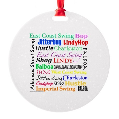 All Swing Dances Ornament (Round)