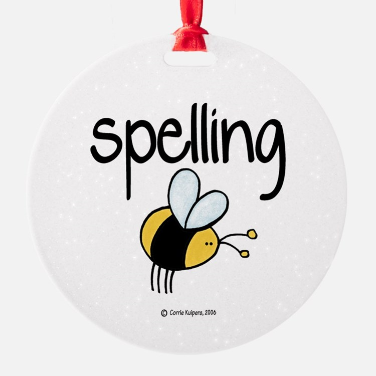 Spelling Bee II Ornament (Round)