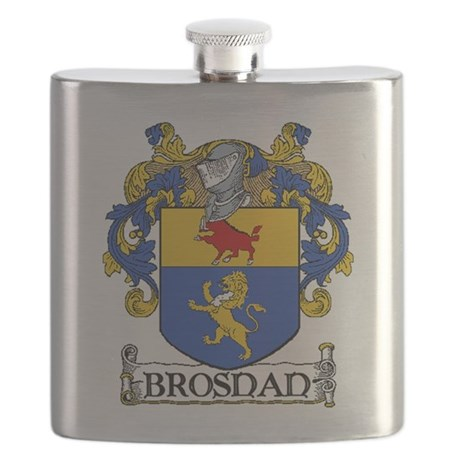 Brosnan Coat of Arms Flask