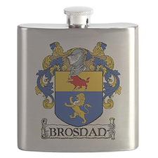 Brosnan Coat of Arms Flask