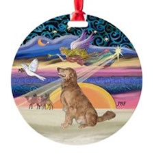 Xmas Star & Golden Ornament (Round)