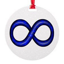 Royal Blue Infinity Symbol Ornament (Round)