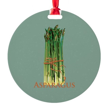 Green Asparagus Ornament (Round)