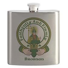 Brosnan Clan Motto Flask