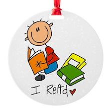 I Read Ornament (Round)