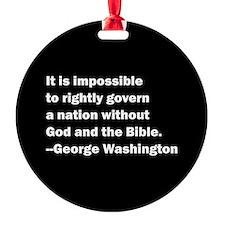 George Washington Quote Ornament (Round)