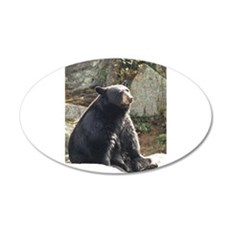 Black Bear Sitting Decal Wall Sticker