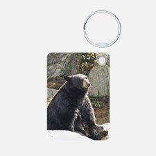 Black Bear Sitting Keychains