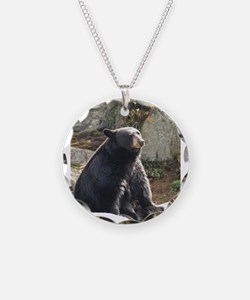 Black Bear Sitting Necklace