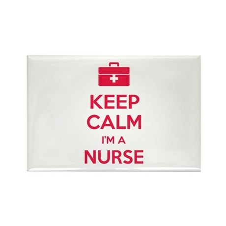 Keep calm I'm a nurse Rectangle Magnet