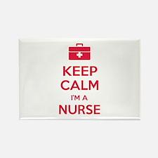 Keep calm I'm a nurse Rectangle Magnet (100 pack)