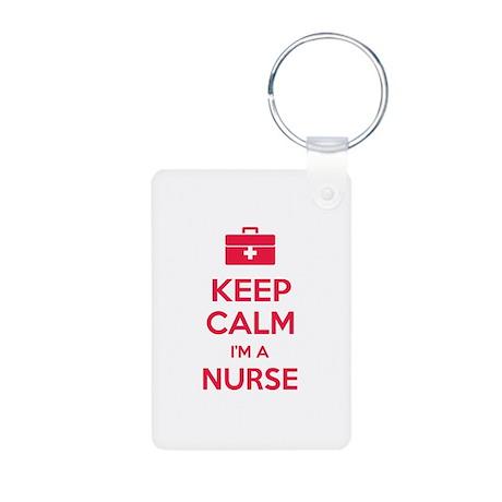 Keep calm I'm a nurse Aluminum Photo Keychain