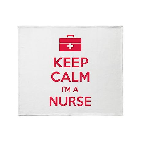 Keep calm I'm a nurse Throw Blanket