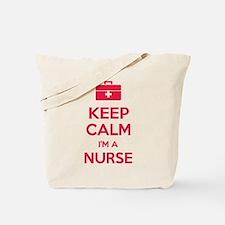 Keep calm I'm a nurse Tote Bag
