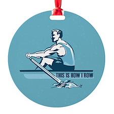 Rowing Crew Ornament (Round)