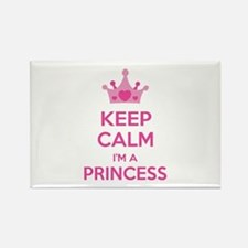 Keep calm I'm a princess Rectangle Magnet