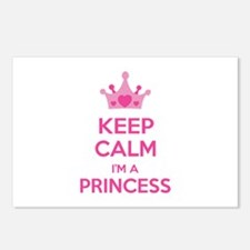 Keep calm I'm a princess Postcards (Package of 8)