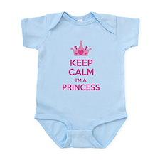 Keep calm I'm a princess Infant Bodysuit