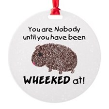 Wheeked At Ornament (Round)