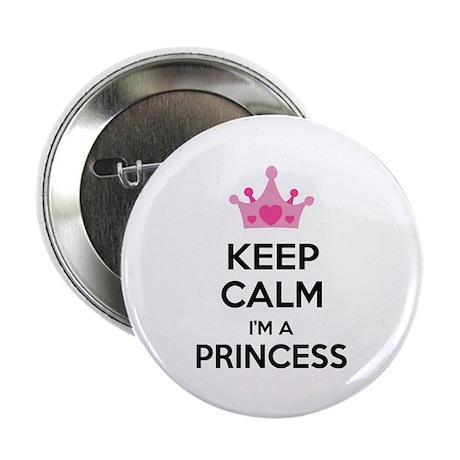 "Keep calm I'm a princess 2.25"" Button (100 pack)"