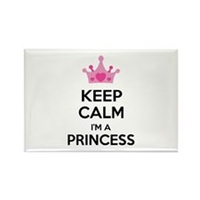 Keep calm I'm a princess Rectangle Magnet